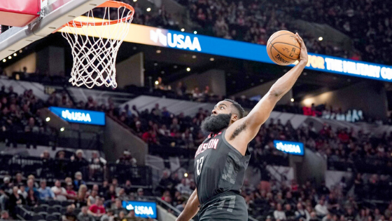 NBA Denies Rockets' Protest of Harden Dunk